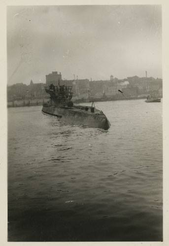 German submarine U-190 in St. John's Harbour Newfoundland courtesy of The Rooms U190