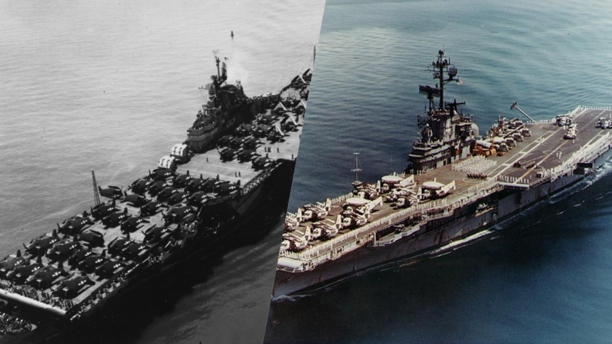 Official U.S. Navy Photographs, from the collections of the Naval History and Heritage Command, NH 97488-KN and NH 92237