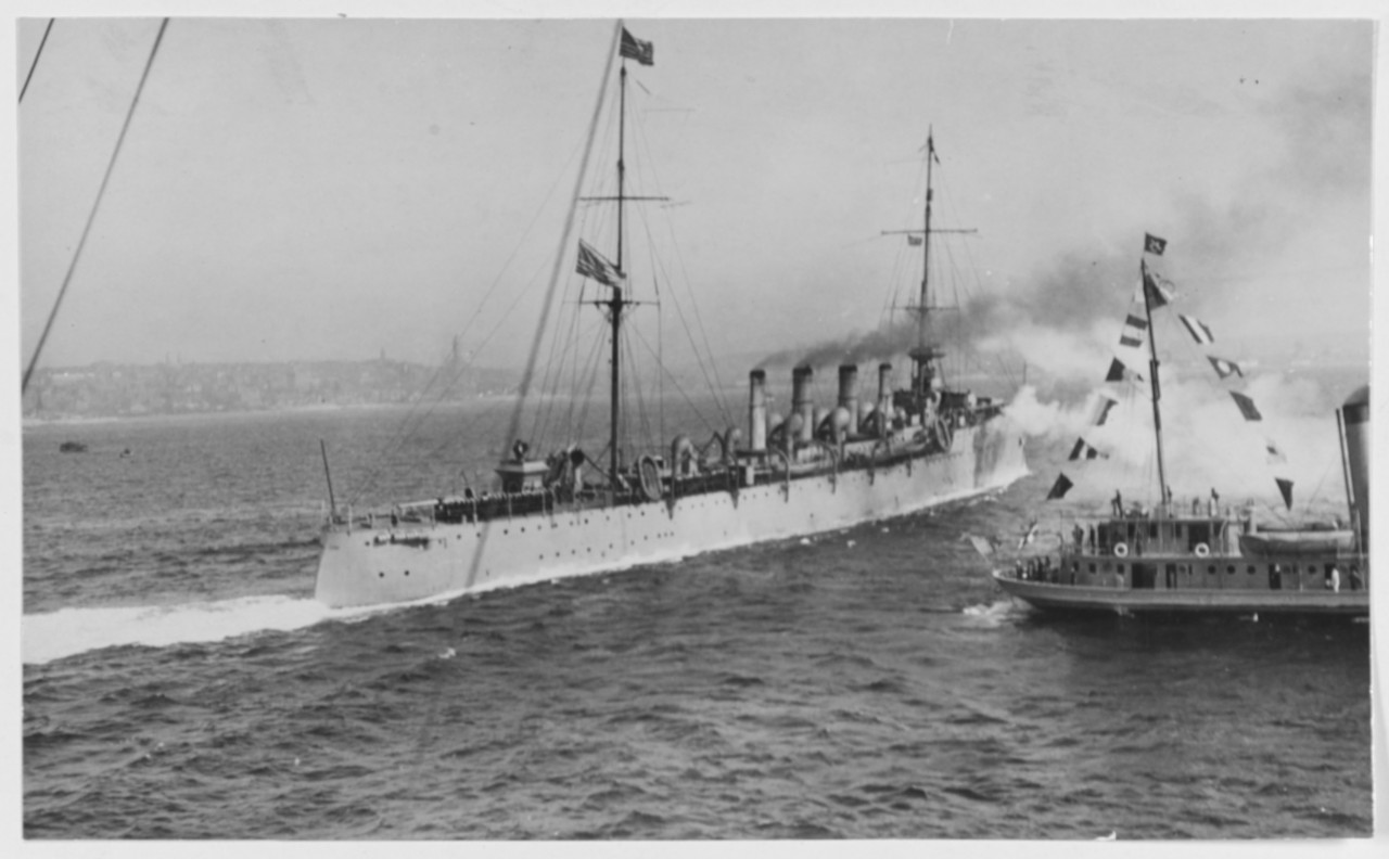 USS Birmingham (Scout Cruiser # 2) At Seattle, Washington, in September 1919. U.S. Naval History and Heritage Command Photograph. Catalog #: NH 56394