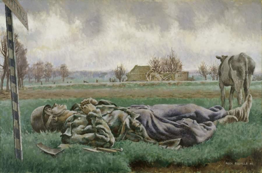 Alex Colville, Tragic Landscape German paratrooper 1944
