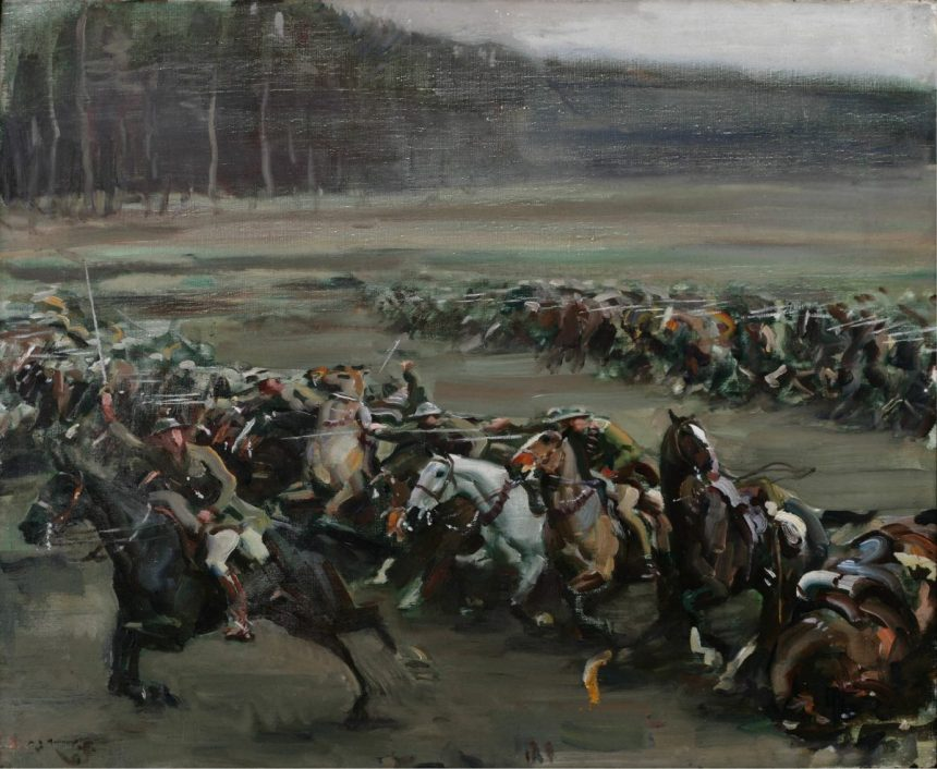 Alfred Munnings: Charge of Flowerdew's Squadron, Beaverbrook Collection of War Art, Canadian War Memorial