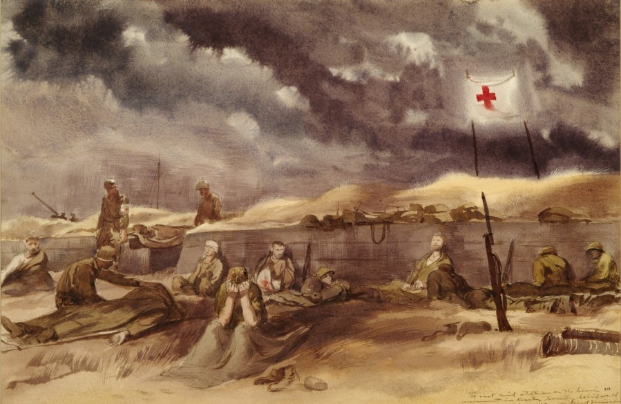 First Aid Station on the Beach DDay Mitchell Jamieson 88-193-HT