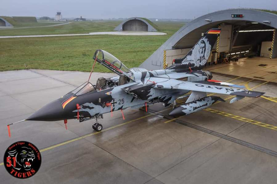 German Air Force Tornado that will participate in the NATO Tiger