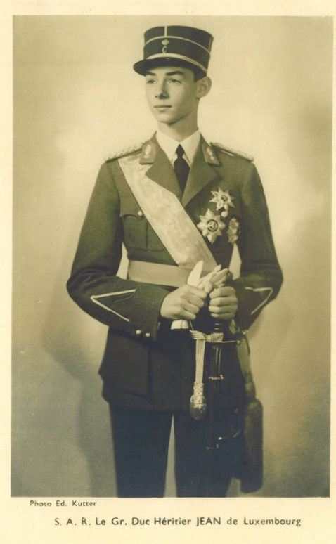 Luxembourg Prince Jean was promoted to the rank of 1st Lieutenant of the Volunteers' Company