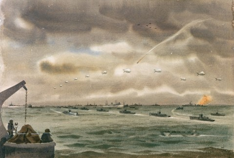 Mitchell Jameison Morning of D-Day from LST 88-193-hi