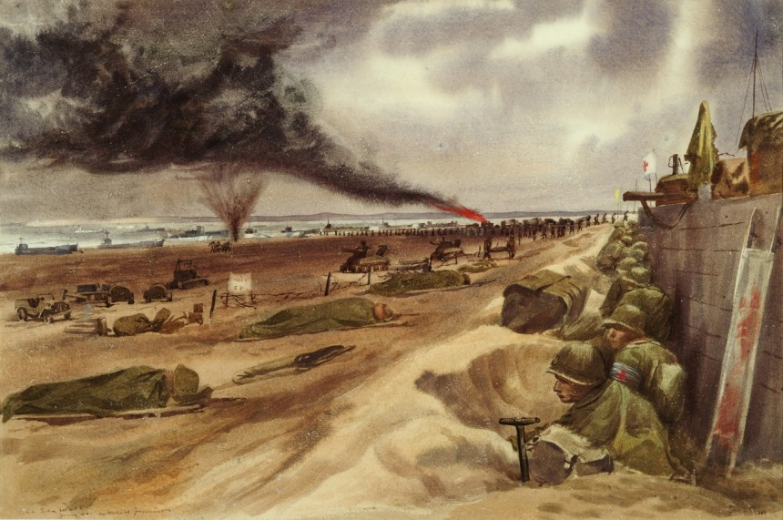 Mitchell Jameison The Sea Wall At the Eastern American Beach (Utah Beach) 88-193-IC