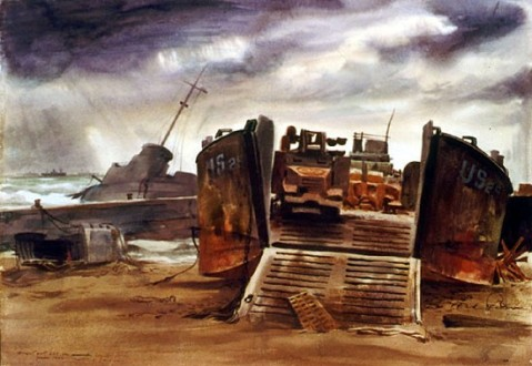 Mitchell Jamieson Burnt Out LCT on American Beach 88-193-ie