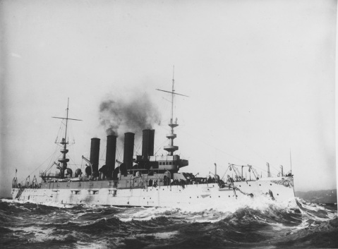 USS CALIFORNIA (armored cruiser 6) NH 66738