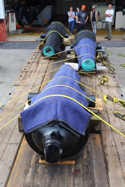 CSS Pee Dee Chocked, wrapped, and strapped for return to Florence.