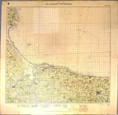 D-Day Map showing Firing Plan from USS Texas (BB-35) NHHC_1969-232-A_full