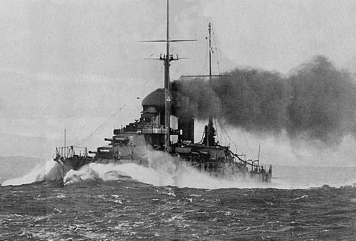 French battleship Paris, trial at full steam from the 1 August 1914 issue of L'Illustration