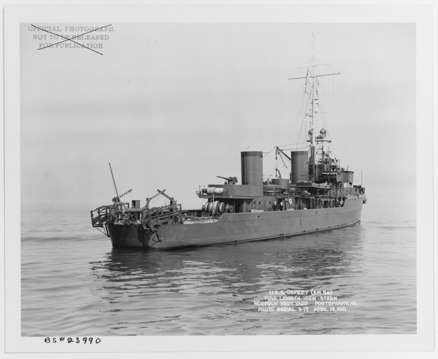 Osprey Off the Norfolk Navy Yard, Portsmouth, Virginia, 19 April 1941 19-N-23990