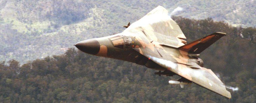 Photo Courtesy of RAAF (1 Squadron F111 A8-114 near Cunningham's Gap, Qld) F-111C