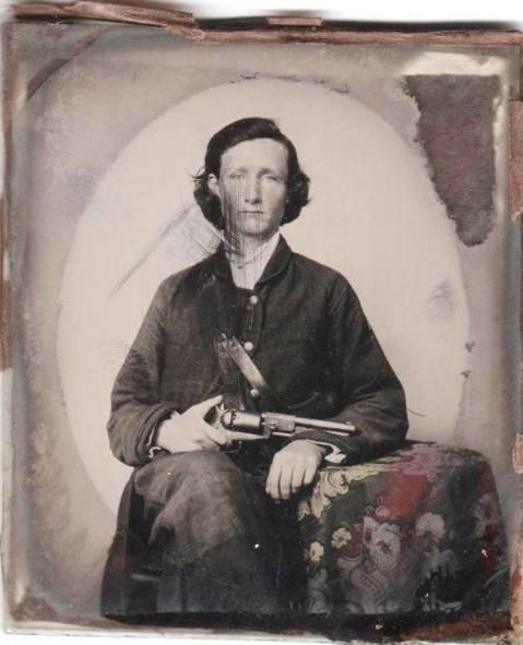 Pvt. Mabry W. Wafer, Company C, First Texas Partisan Rangers Colt Dragoon revolver Texas Historical Society Civil War