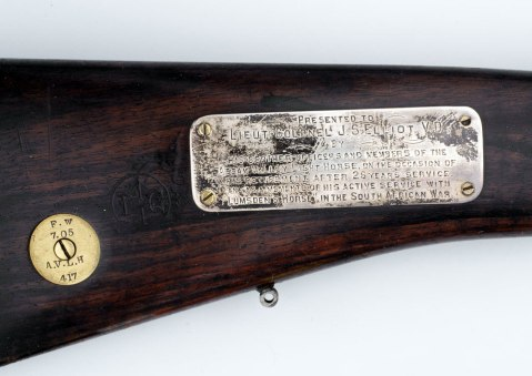 Lee-Enfield India Pattern Mk 1 .303 inch bolt action cavalry carbine issued to Assam Valley Light Horse, 1905 reissued for Home Guard WWII