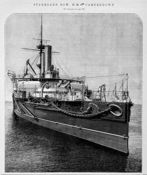 Starboard bow HMS Camperdown The Engineer 1893