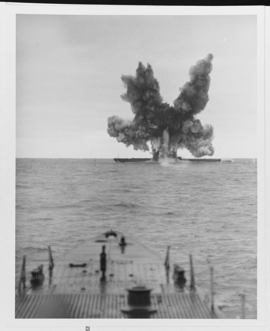 Former U-234 is torpedoed by USS Greenfish (SS-542), in a test, on 20 November 1947, 40 miles northeast of Cape Cod.