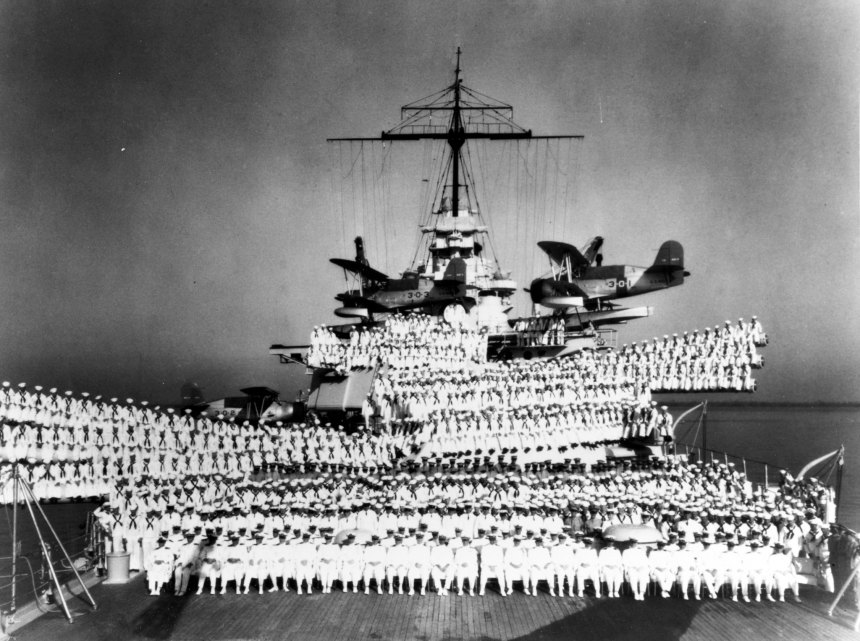 Courtesy of the Naval Historical Foundation. Collection of Vice Admiral Alexander Sharp, USN. U.S. Naval History and Heritage Command Photograph NH 83900